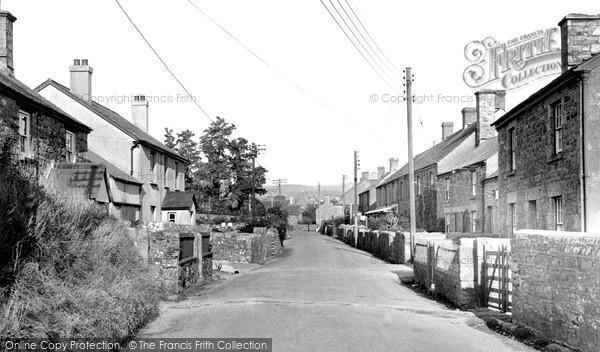 Photo of Lydford, The Village c.1955