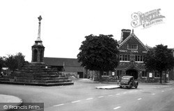 Lydney, The Cross And Town Hall c.1955