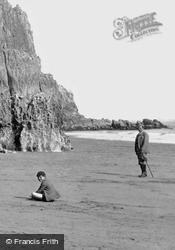 Man And Boy On Beach 1890, Lydstep