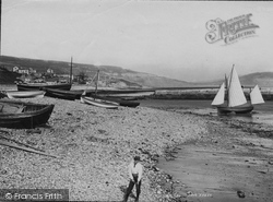Lyme Regis, From Beach 1892