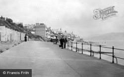 Lyme Regis, The Parade c.1890
