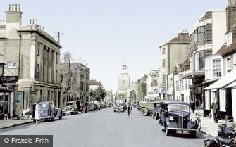 Lymington, High Street c1955