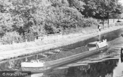 Lymm, A Barge On The Canal c.1960