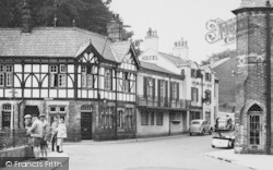 Lymm, Martins Bank And Eagle Hotel c.1955