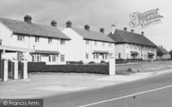 Lymm, Petrol Pumps And New Houses c.1955