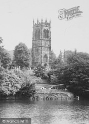 Lymm, St Mary's Church From The Lake c.1950