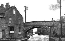 Lymm, The Bridge And Canal c.1955