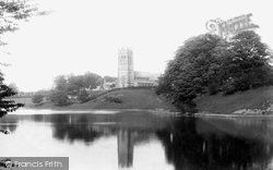 Lymm, The Lake And St Mary's Church 1897