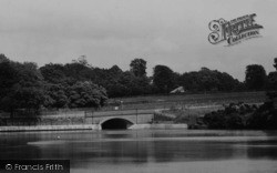 Lymm, The Lake Bridge c.1950