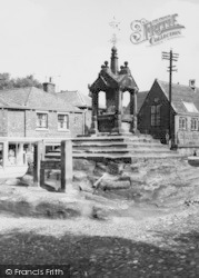 Lymm, The Stocks And Cross c.1960