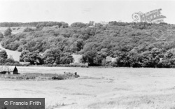 Lympne, Church And Castle From The Marshes c.1955