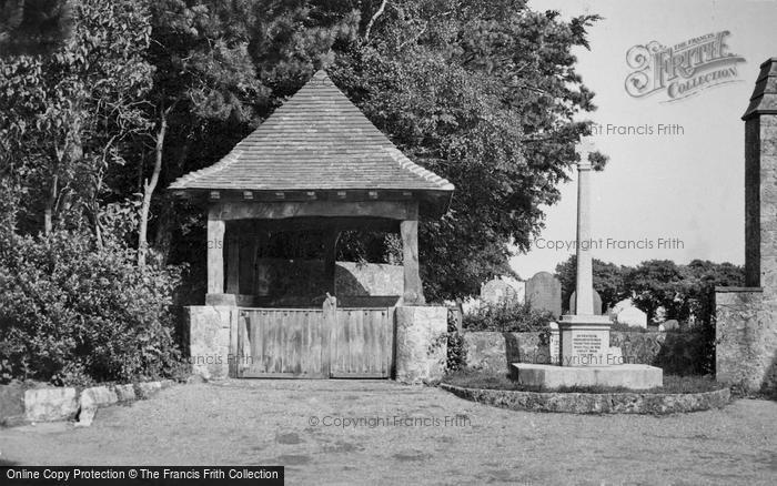 Photo of Lympne, The Lychgate And War Memorial c.1955