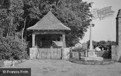 Lympne, The Lychgate And War Memorial c.1955