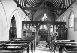 Lynchmere, St Peter's Church Interior 1907, Linchmere