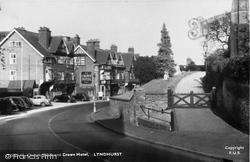 Church Walk And  Crown Hotel c.1955, Lyndhurst