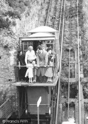 Lynmouth, Cliff Railway c.1955