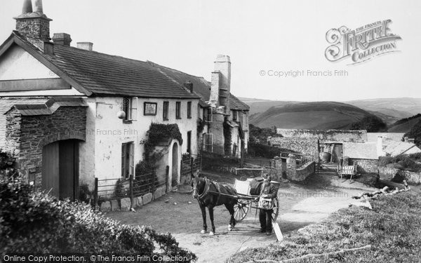 Lynmouth, Countisbury Hill, the Blue Ball 1907