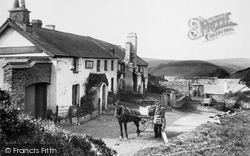Countisbury Hill, The Blue Ball 1907, Lynmouth