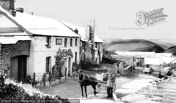 Lynmouth, Countisbury Hill, the Blue Ball Inn 1907