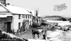 Countisbury Hill, The Blue Ball Inn 1907, Lynmouth