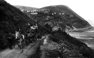 Lynmouth, Countisbury Hill, The Coach 1907