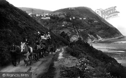 Countisbury Hill, The Coach 1907, Lynmouth