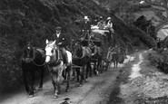 Lynmouth, Countisbury Hill, The Tourist Coach 1907