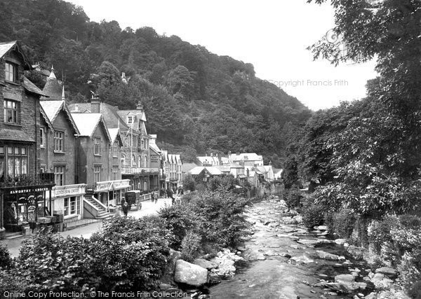 Photo of Lynmouth, From Lyndale Bridge 1920