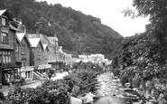 Lynmouth, from Lyndale Bridge 1920