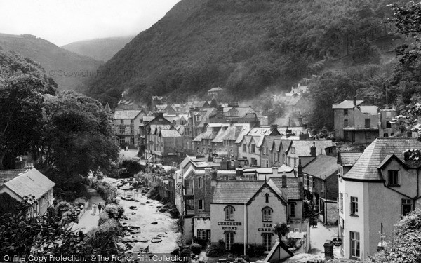 Photo of Lynmouth, From Mars Hill c.1950