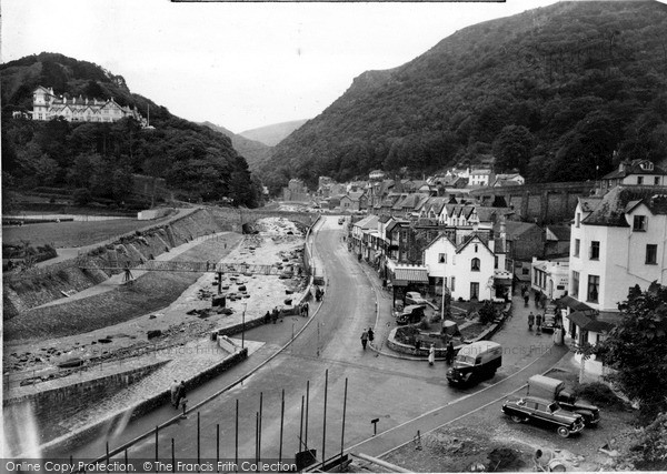 Photo of Lynmouth, From Mars Hill c.1960