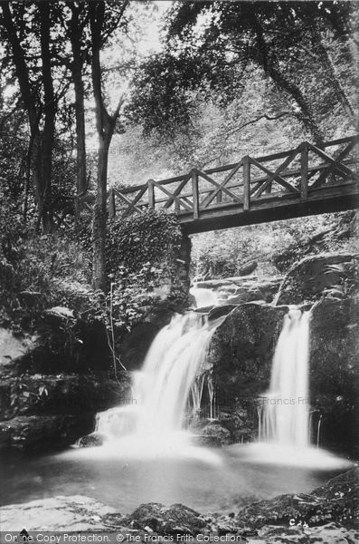 Photo of Lynmouth, Glen Lyn Bridge And Falls c.1910