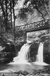 Lynmouth, Glen Lyn Bridge And Falls c.1910