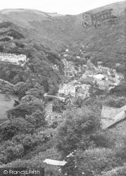 Lynmouth, Glen Lyn Gorge 1929