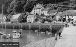 Lynmouth, Harbour And Mars Hill c.1955