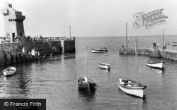 Lynmouth, Harbour Entrance c.1955