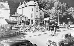 Lynmouth, Riverside Harbour Walk c.1955
