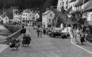 Lynmouth, Riverside Road c.1955