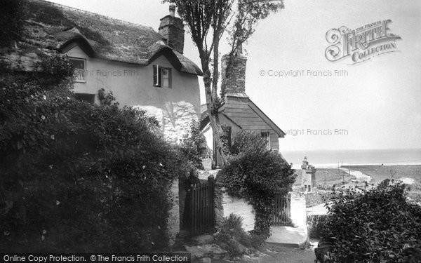 Photo of Lynmouth, Shelley's Cottage 1920