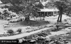 Lynmouth, Tea Garden, Watersmeet c.1955