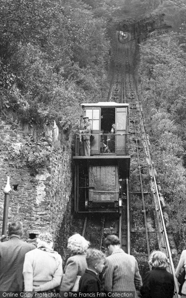 Photo of Lynmouth, The Cliff Railway c.1955