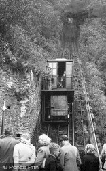 The Cliff Railway c.1955, Lynmouth