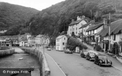 The Harbour And Mars Hill c.1955, Lynmouth