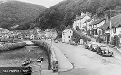 Lynmouth, The Harbour And Rising Sun Hotel c.1955