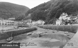 The Harbour From The Quay c.1955, Lynmouth