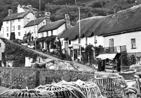 Lynmouth, the Harbourside c1955