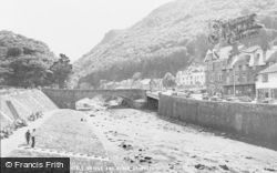 Lynmouth, The Lyndale Bridge And River c.1955