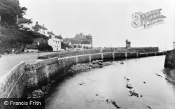 Lynmouth, The River And Lighthouse c.1955