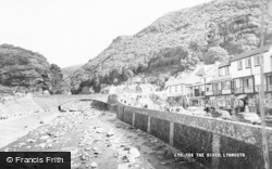 Lynmouth, The River c.1960