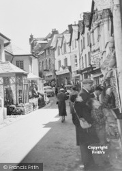 Lynmouth, Tourists In The Street c.1955